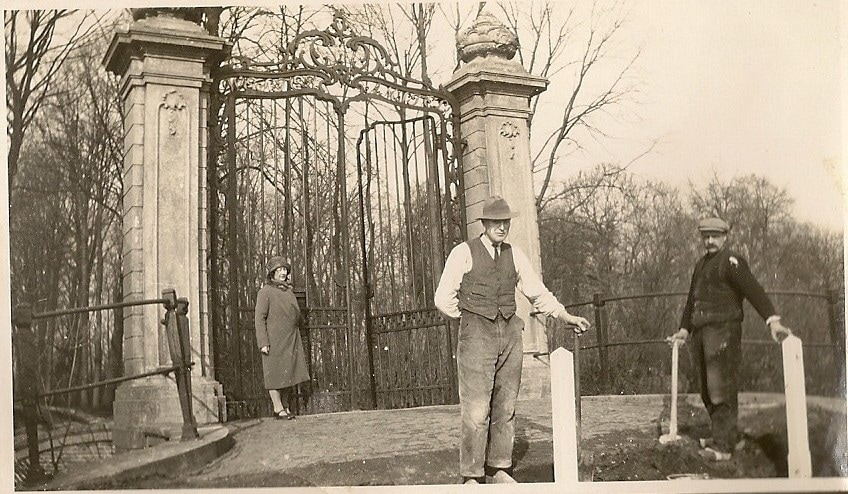 Man in front of gate